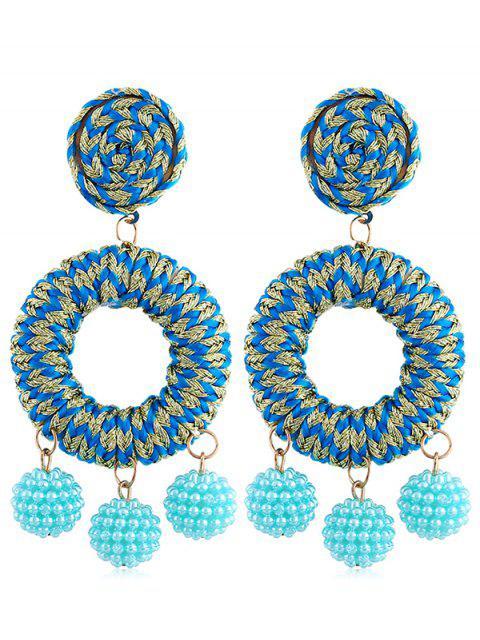 Boucles d'oreilles bohème en perles de rocaille - Ciel Bleu Foncé  Mobile