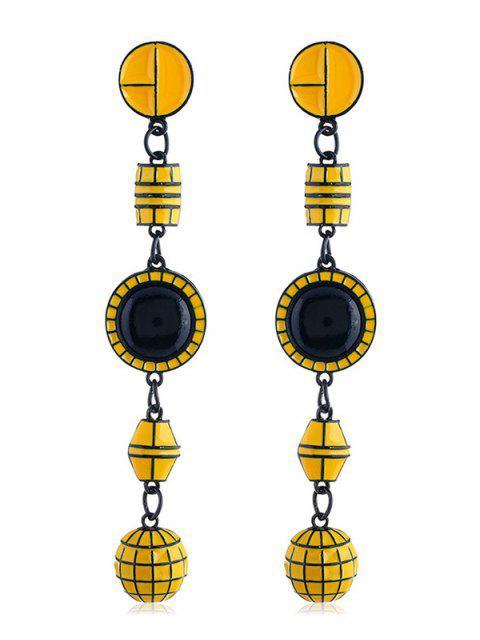 sale Geometric Shape Long Hanging Earrings - YELLOW  Mobile