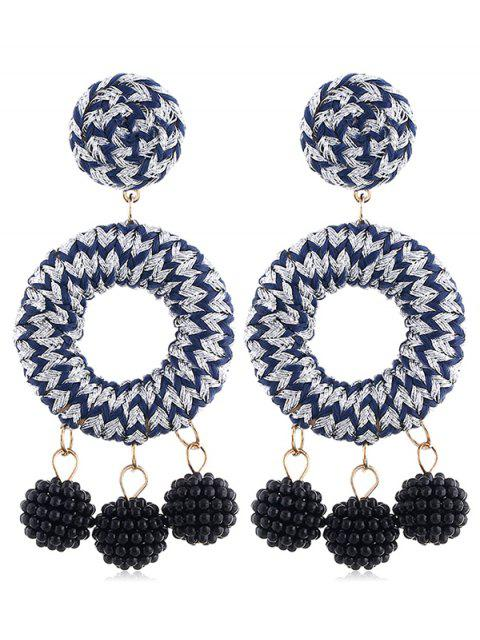 Bohemian Beads Ball Drop Earrings - Plata  Mobile