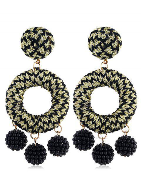 Boucles d'oreilles bohème en perles de rocaille - Or  Mobile