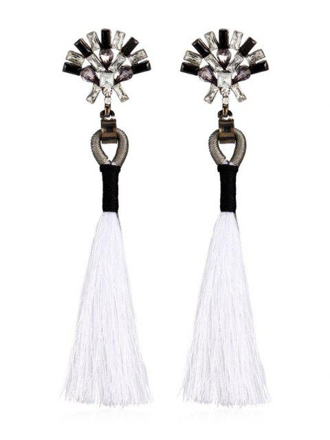 Bohemia Long Tassels Pendientes - Blanco  Mobile