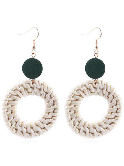 Boucles d'oreilles en forme de paille - Vert Jungle  Mobile