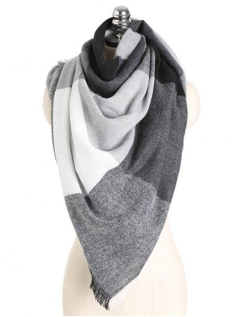 fashion Color Block Soft Shawl Scarf - #008 ONE SZIE Mobile