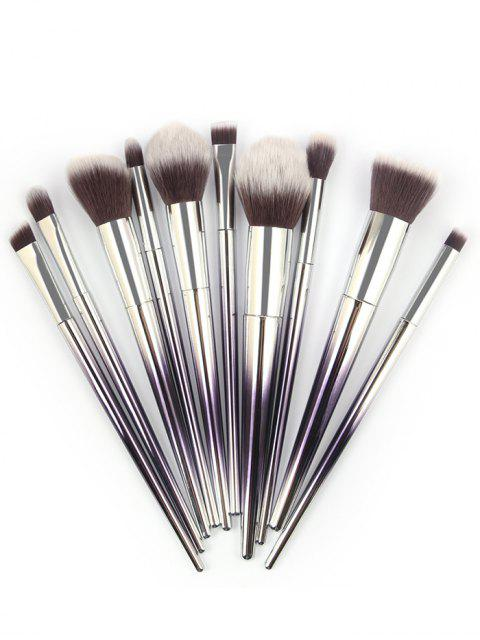 women's Ombre Handle Makeup Brushes Set - PURPLE IRIS  Mobile