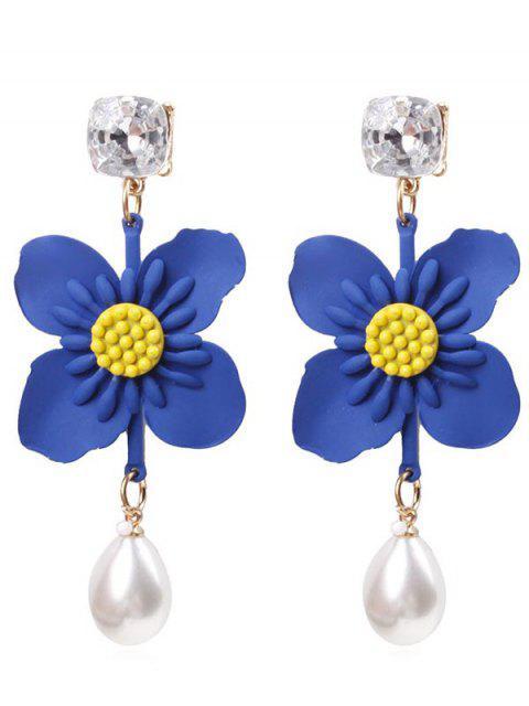 Pendientes colgantes de perlas de flor - Orquídea Azul  Mobile