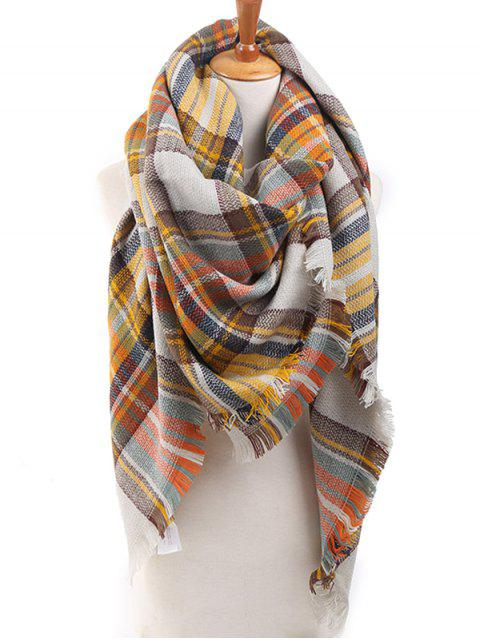 shops Checked Wrap Shawl Blanket Winter Scarf - MULTI-F ONE SZIE Mobile