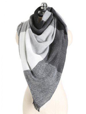 Farbblock weicher Schal Schal