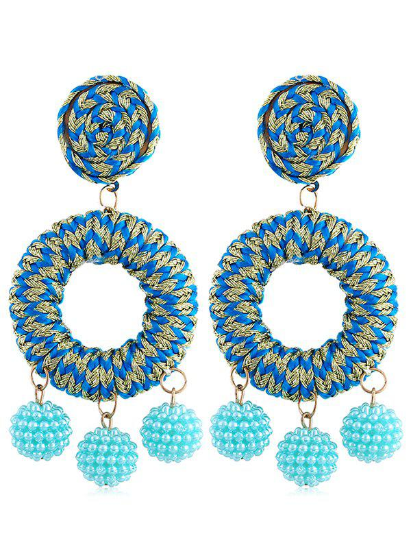 Bohemian Beads Ball Drop Earrings