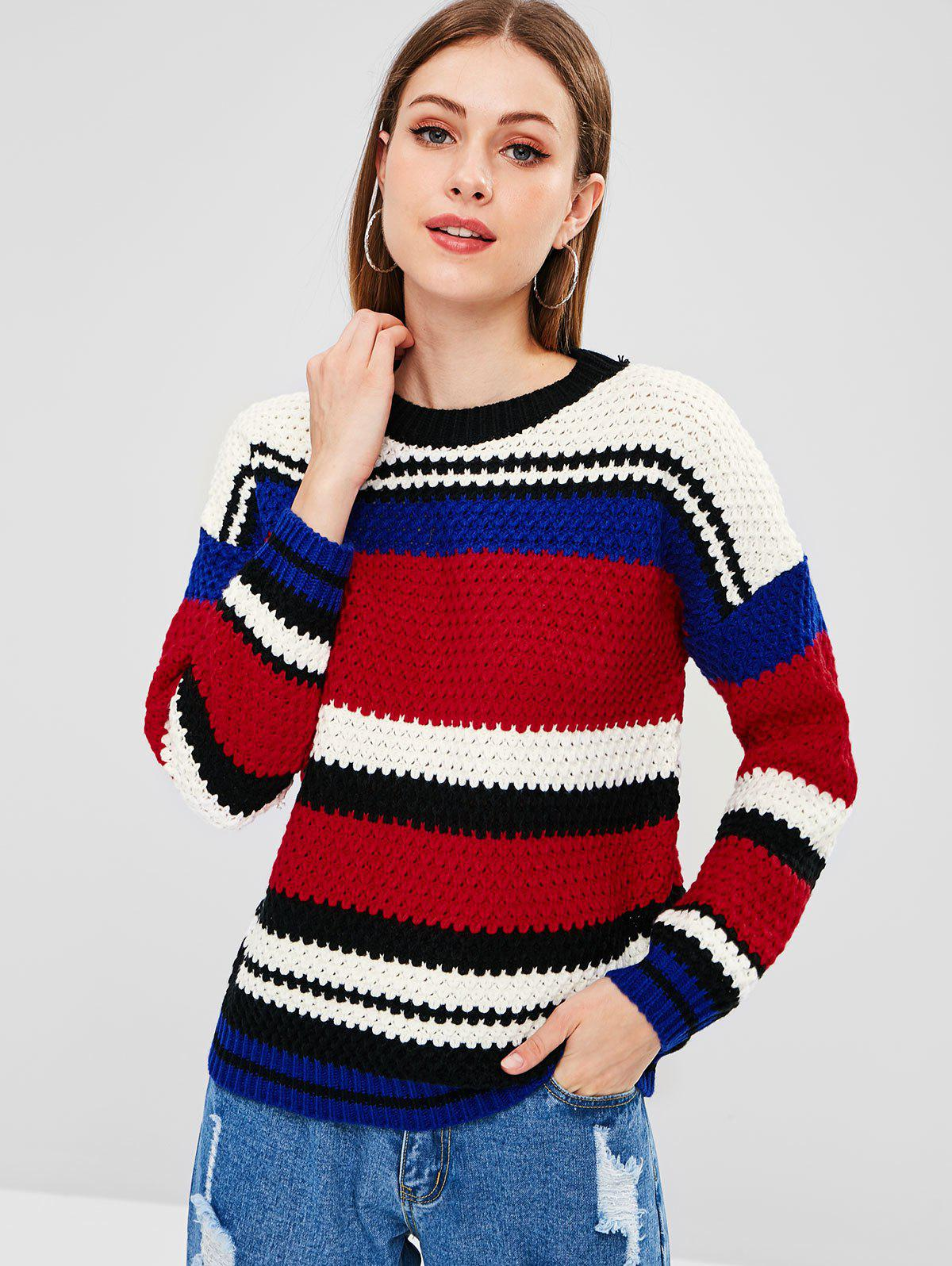 Color Block Chunky Sweater