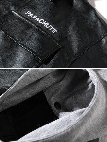 Desmontable Cuero Casual Negro De Artificial Chaqueta S xTIEzwzq