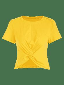 Amarillo Camiseta Twisted La Recorta S XqHa6w