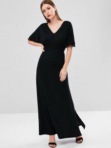 Abertura Vestido Negro Maxi S Abierta Smoked PCSgw