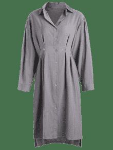 De Corte Bajo M Gris Alto Vestido Y De Camisa aqpffF