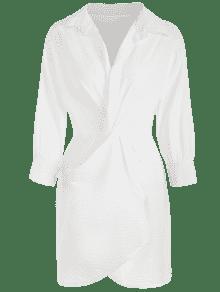 Plunge Vestido Plunge Blanco Blanco Vestido Camiseta Camiseta Twist Vestido Camiseta Twist Twist Plunge Blanco qxwBE6pTx