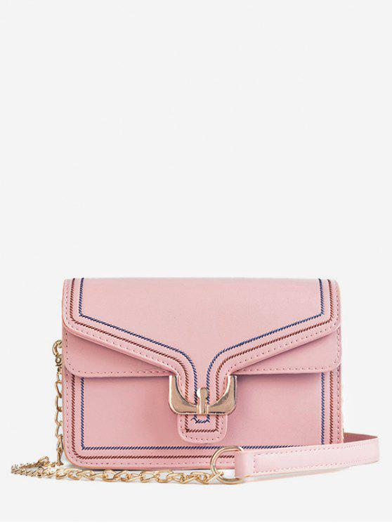 fashion Mini Buckle Chain Crossbody Bag - PINK