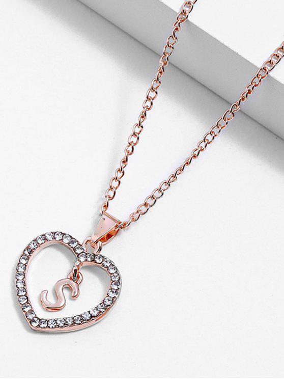 2019 Rhinestone Love Heart Letters Design Chain Necklace In Multi S