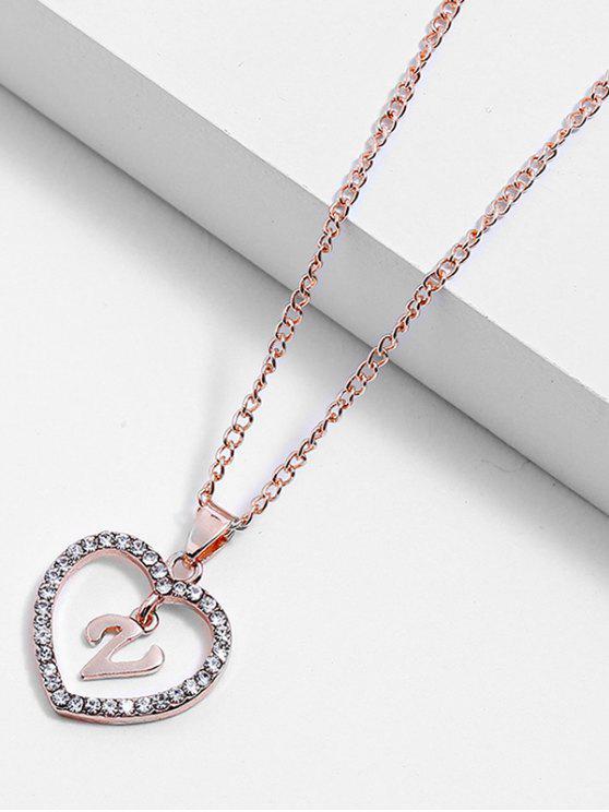 Strass Liebe Herz Buchstaben Design Kette Halskette - Multi-V