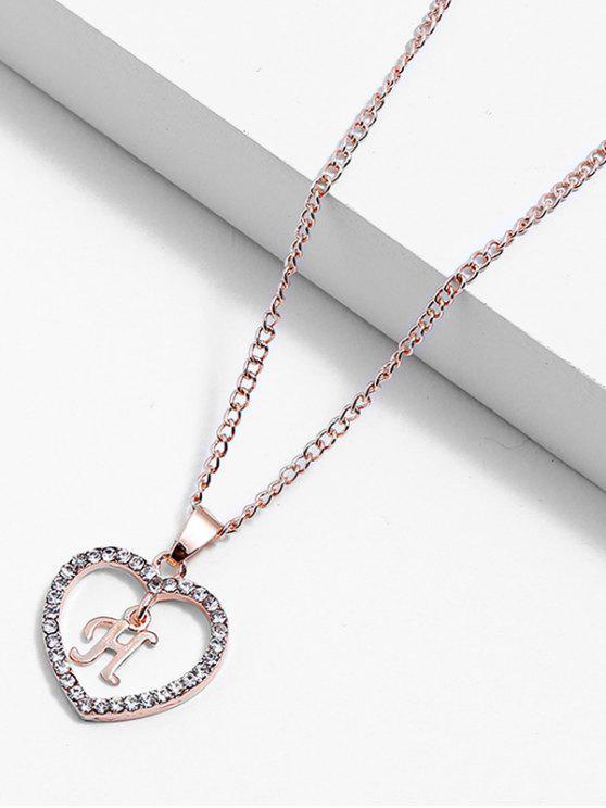 b4d491e8a85 4% OFF  2019 Rhinestone Love Heart Letters Design Chain Necklace In ...