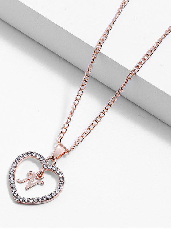 2019 Rhinestone Love Heart Letters Design Chain Necklace In Multi N