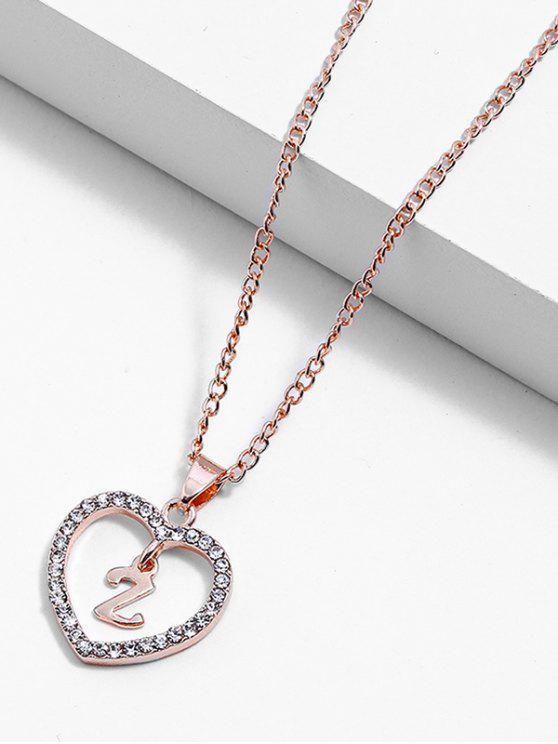 2019 Rhinestone Love Heart Letters Design Chain Necklace In Multi Z