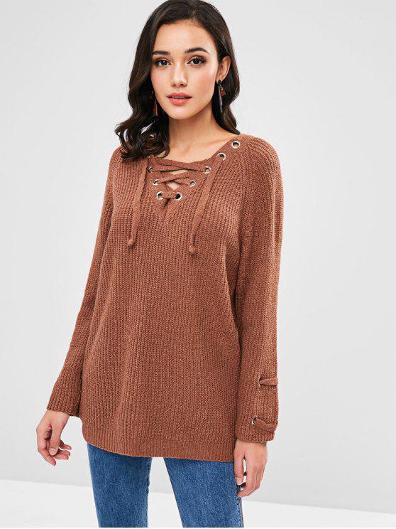 Тушевый свитер - Коричневый Один размер