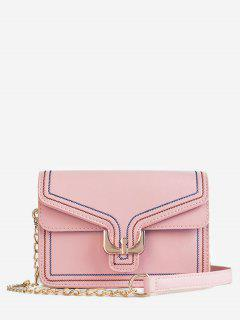 Mini Buckle Chain Crossbody Bag - Pink