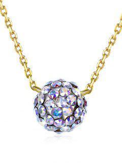 Collar Con Cuentas Incrustaciones De Diamantes De Imitación - Multicolor