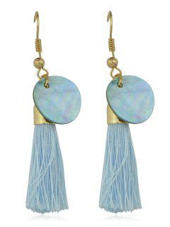 Disc Quasten Haken Ohrringe - Blau