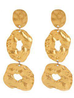 Irregular Geometric Design Drop Earrings - Golden Brown