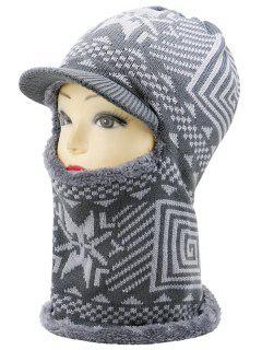 Sombrero De Caza De Esquí De Punto De Espesar Al Aire Libre - Gris