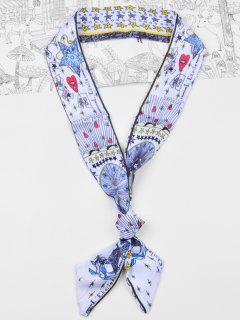 Bufanda Sedosa Floral Del Bolso De La Cinta De La Cinta De La Estrella Elegante - Cadetblue