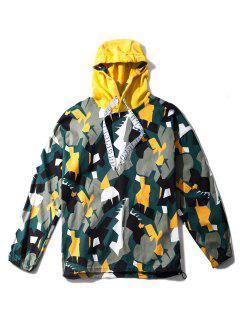 Sweat-Shirt à Capuche Avec Cordon De Serrage Réglable à Imprimé Formes Irrégulières  - Multi M