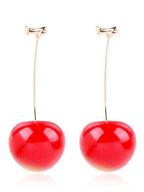 latest Cherry Drop Earrings - RUBY RED  Mobile