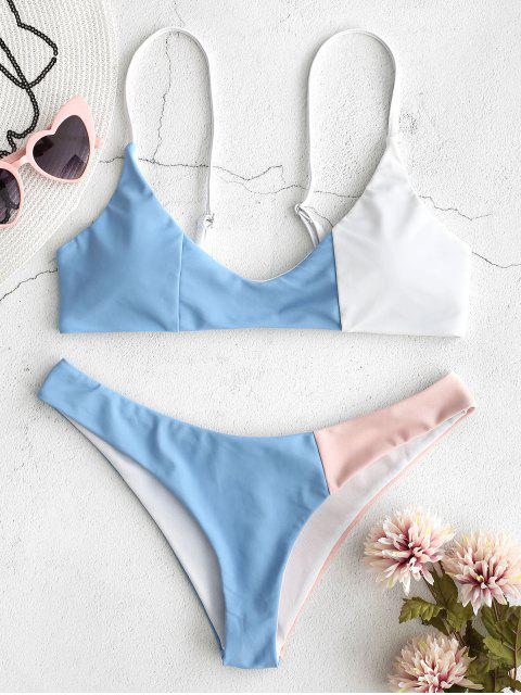 buy ZAFUL Color Block Bikini Set - MULTI L Mobile