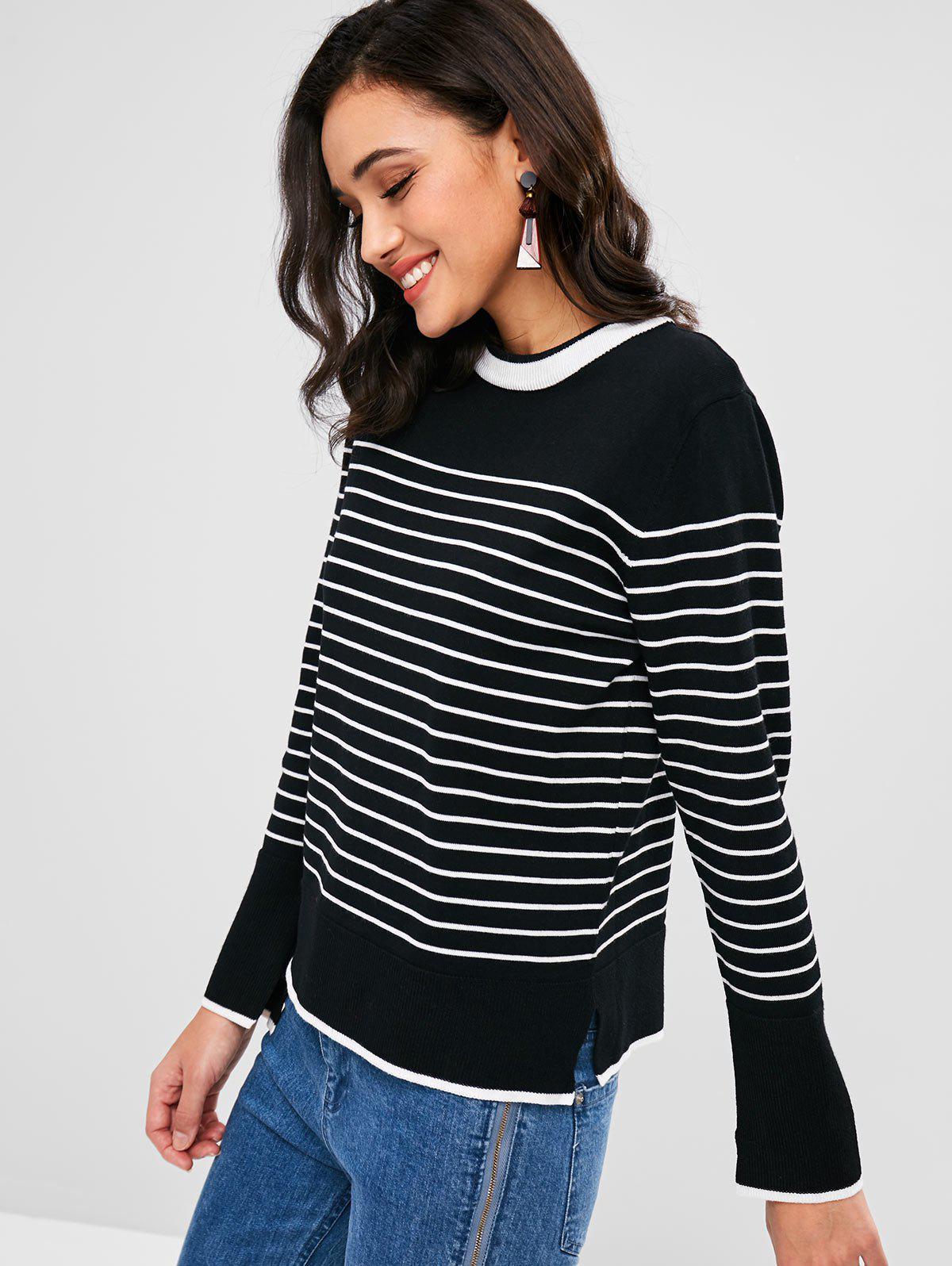 Slit Stripe Sweater