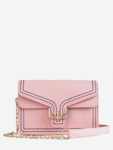 حقيبة كروس صغيرة بحمالة كتف صغيرة - زهري
