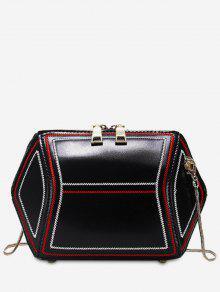 حقيبة كروس شكل هندسي الشكل - أسود