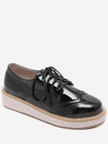 براءات الاختراع والجلود اسبادريليس الخياطة الحذاء - أسود 38