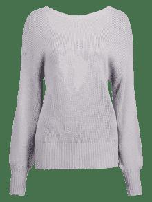 Gris Sweater Ganso Tie Open Back 4aqw0Swz