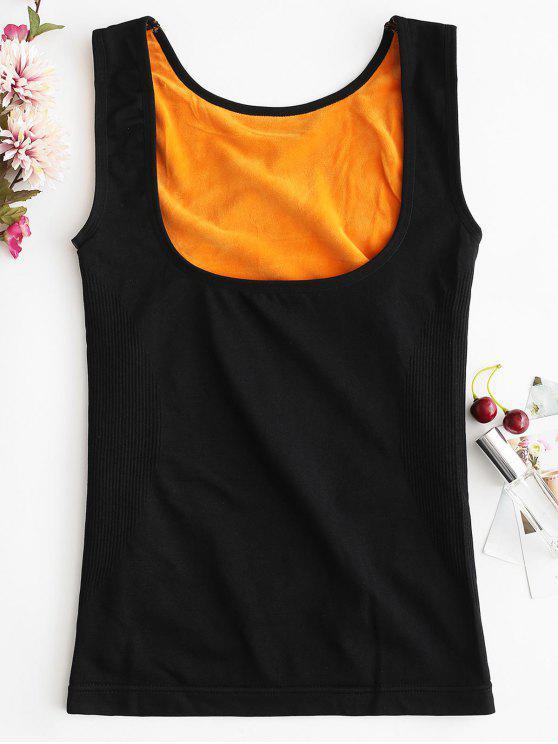 دافئ تانك الأعلى ملابس داخلية حرارية تانك الأعلى - أسود XL