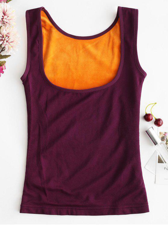 دافئ تانك الأعلى ملابس داخلية حرارية تانك الأعلى - أرجواني XL