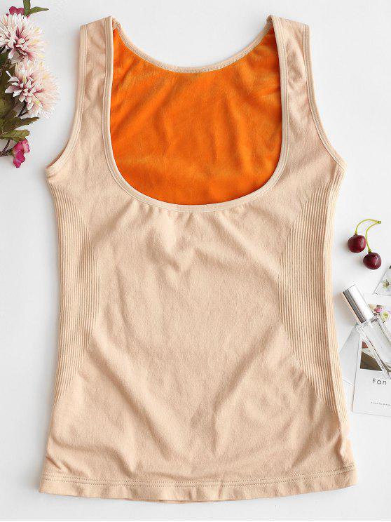 دافئ تانك الأعلى ملابس داخلية حرارية تانك الأعلى - اللون البيج XL