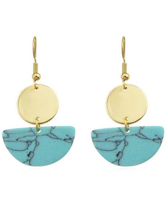 buy Round Semicircle Drop Earrings - BLUE