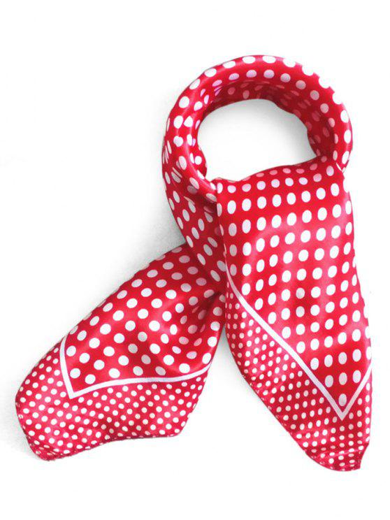 lady Vintage Polka Dot Printed Handkerchief - LOVE RED