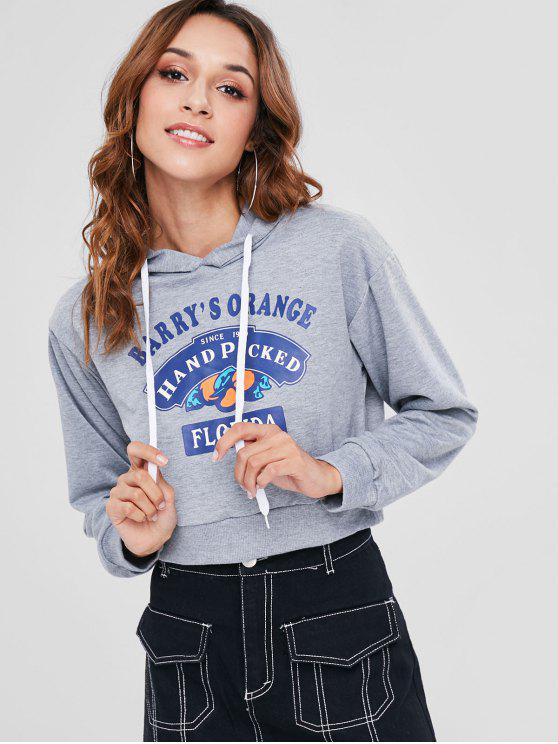 outfits Florida Graphic Hoodie - LIGHT GRAY M