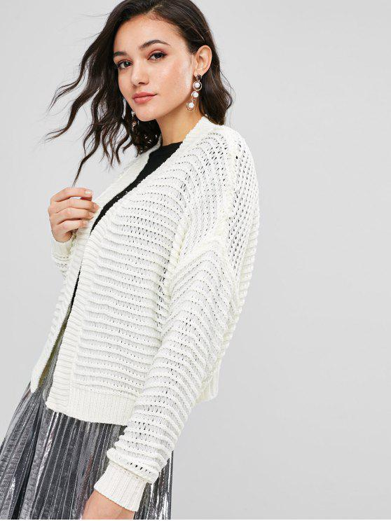 ZAFUL Open Front Strickjacke - Warmweiß L