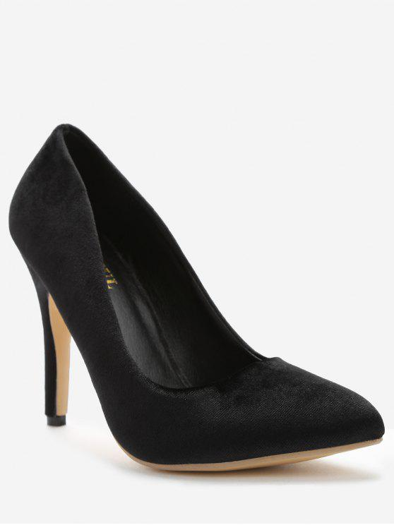 unique ZAFUL Pointed Toe High Heel Pumps - BLACK 36