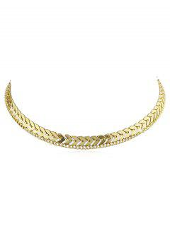 Layer Fishbone Chain Necklace - Gold