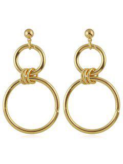 Boucles D'oreilles à Double Cercle - Or