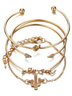 Ensemble Bracelet En Alliage Strass Vintage LOVE Alloy - Or